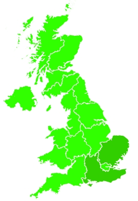 Click on a region for air pollution levels for 02/08/2020