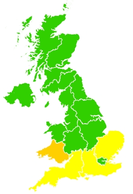 Click on a region for air pollution levels for 03/05/2021