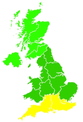 Click on a region for air pollution levels for 16/09/2020
