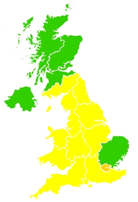 Click on a region for air pollution levels for 20/04/2021
