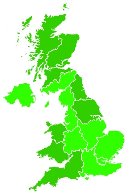 Click on a region for air pollution levels for 28/01/2021